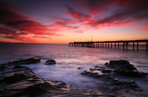 Sunrise at Lorne Pier by Celtics24