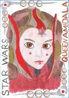 Sketch Card Queen Amidala by SvalaW