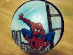 Custom Spiderman Cake by MaxDaMonkey
