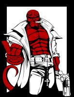 HellBoy Red-White-Black by Micha81