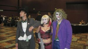 Joker, Harley, and the Mad Hatter by RaindropCosplay
