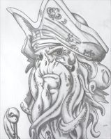 Davy Jones - Pirates of the Caribbean by Dragon8or