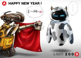 WALL-E New year card by Maguta