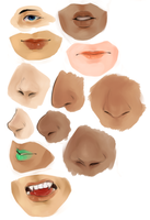 Face Parts Practise by r-r-rivers