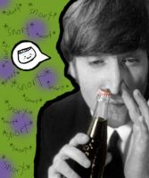 lennon snorting coke. by americanfallout