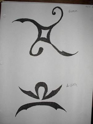 Zodiac Tattoo Designs With Image Zodiac Symbol Picture Libra Tribal Tattoo 5