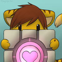 Companion Cube by mytigertail