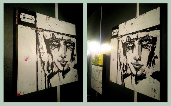 A FACE-TO-FACE WITH KLEO (on my wall). by DANNY-DED