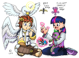 Gym Leaders Pit and Twilight Sparkle by FawkesTheSkarmory