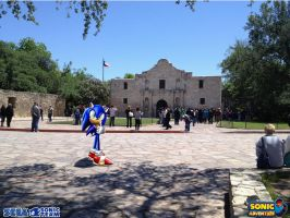 Sonic in San antonio by silversonic2000