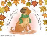 Pippin loves autumn! by Toki-Designs