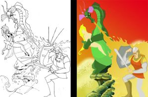 Dragons Lair unfinished by Hesstoons