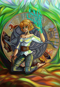 The Inquisitor Ioleanta. Tarot by zoiocen