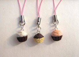 Scented Cupcake Charms II by vivee