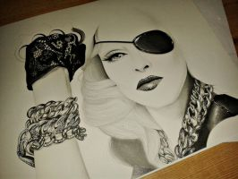 working on MADONNA. WIP I. by andreavelazquez