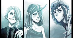 3 commissions by Raiden-chino