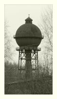 Water tower I by Barefeet-in-the-rain