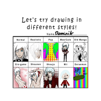 Different styles meme by death6loves6me6