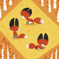 Little Foxes by sketchinthoughts