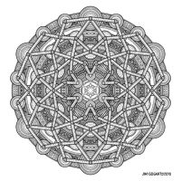 Mandala drawing 57 by Mandala-Jim