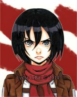 Attack On Titan-Mikasa Ackerman by Lilly-Lamb