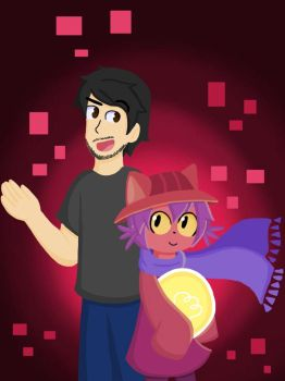 Markiplier and Niko by KammyBale