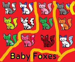 CUTE NEW BABY FOX ADOPTABLES by naty15