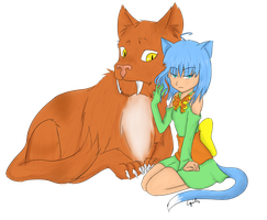 Epic Lap Cat Coloring by Cquiles
