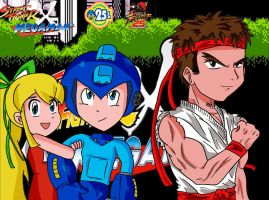 Street Fighter X Megaman 25TH Anniversary by CronoCain
