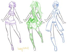 Fashion Designs 4 by IvoryTeacup