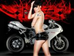 Xhex ad her Ducati by sajoxe