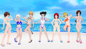 Some Soul Calibur Girls bikinis by quamp