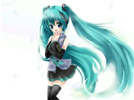 Miku Hatsune :love: by tickledpinky