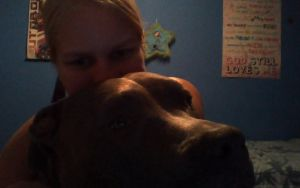 My Sweet Pit Bull and I by BerryBreezer