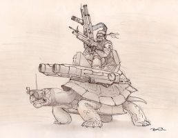 War Turtle by RobtheDoodler