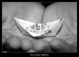 GIFT - Let's escape together by onewordphoto