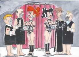 Wilma and Betty - Undercover Bondage Assignment by kiff57krocker