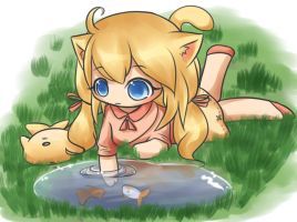 Aiko fishing by Melmee