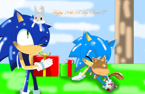 Happy 20th B-Day Sonic by alinathecat12