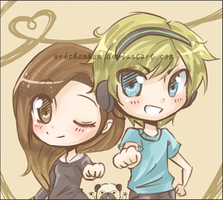 Pewdiepie and Cutiepie by erichankun