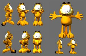 Garfield 3D by bigbadream
