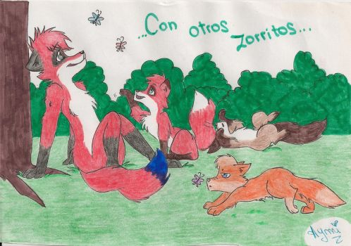 With Other Foxes ..AT.. by Lucy-BiggerHTF