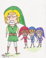 Link and his crew by AonAllstars