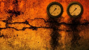 Rusty Gauges at Sunset by BlindScientist