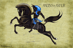 anubis and anhur by pookyhorse