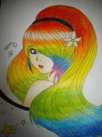 rainbow girl by xXira-eshvoXx