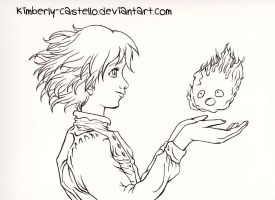 Howl's Moving Castle Lineart by kimberly-castello