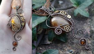 Secession steampunk pendant by ukapala
