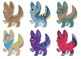 Monster Puppy Adoptables 02 OPEN by fishyadopt