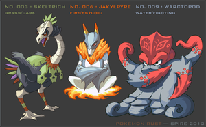 Pokemon Rust: Starter Final Evolutions by Spire-III
